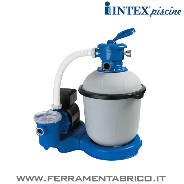 Pompa filtro piscine intex sabbia 10000 l h ferramenta brico for Intex accessori