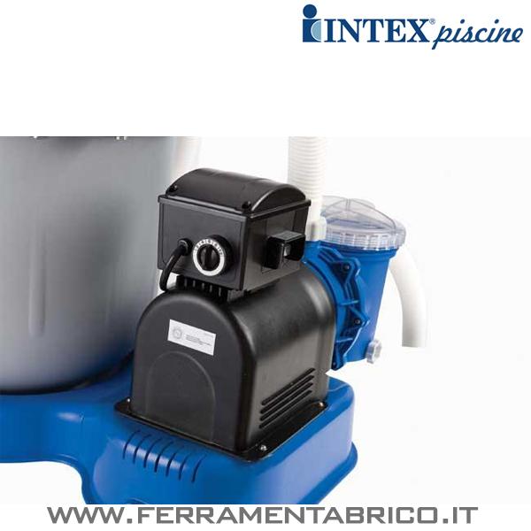 Pompa filtro piscine intex sabbia 10000 l h ferramenta brico - Motore per piscina ...