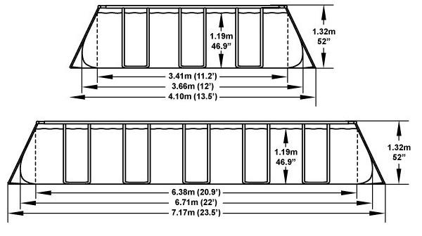 Piscina rettangolare 671x366x132 bestway for Piscina fuori terra grandi dimensioni