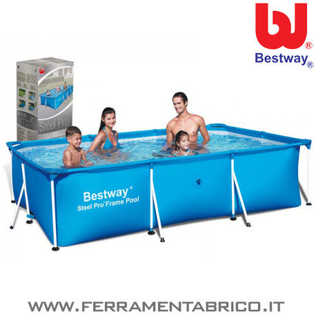 Piscina steel pro 300x201x66 bestway ferramenta brico - Manutenzione piscina fuori terra bestway ...