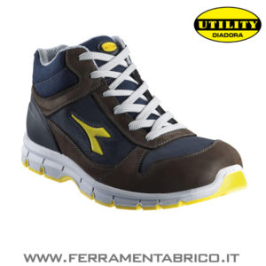 SCARPE ANTIFORTUNISTICHE DIADORA HI RUN-MARRONE-BLU